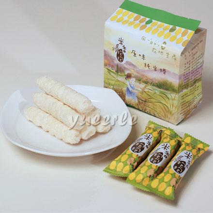 【悅兒園婦幼生活館】Formosa Poprice 米香抱抱米捲-原味純米捲 (單包16支/袋X1)