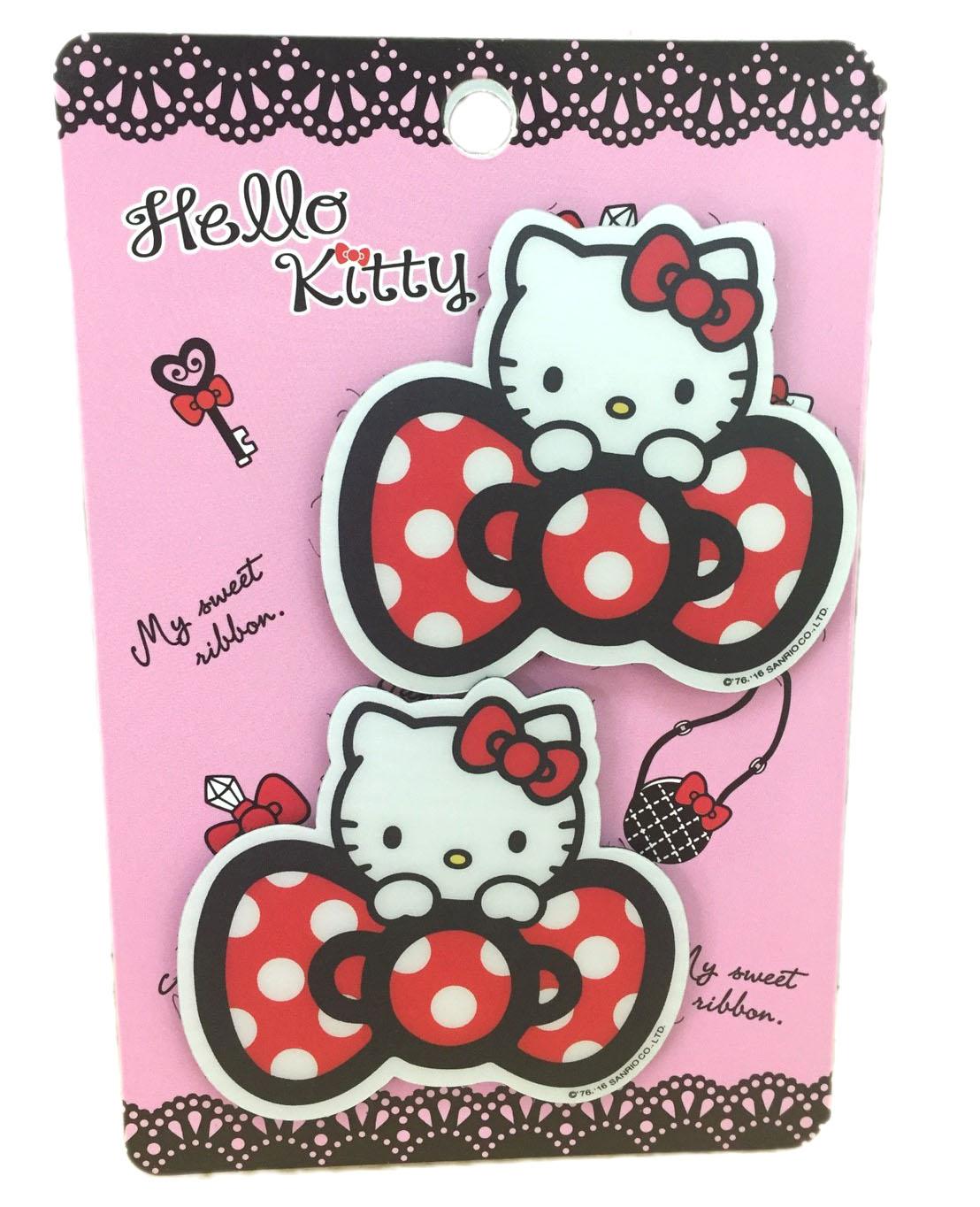 【真愛日本】16080300022瀏海貼-KT蝴蝶結紅  三麗鷗 Hello Kitty 凱蒂貓 髮飾 飾品 正品