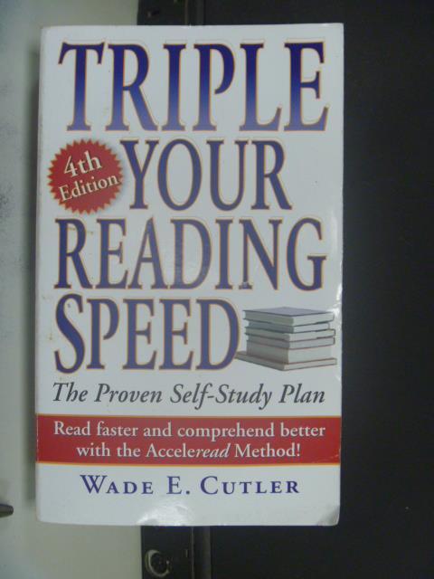 【書寶二手書T9/財經企管_NSM】Triple Your Reading Speed_Cutler