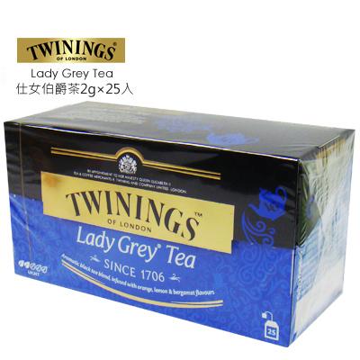 英國【TWININGS 唐寧】仕女伯爵茶/2g*25入(盒)