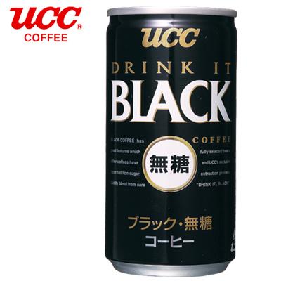 日本【UCC】BLACK無糖咖啡飲料  (185g x 30罐)