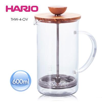 《HARIO》自然風濾壓茶壺 600ml /THW-4-OV