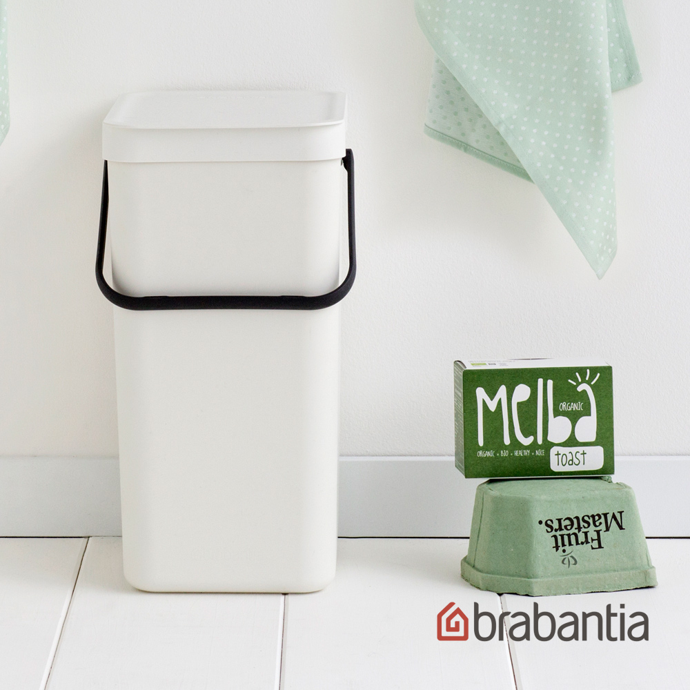【荷蘭BRABANTIA】多功能餐廚置物桶16L-白色