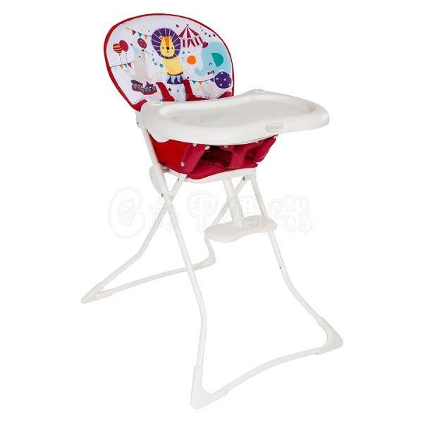 Graco 簡便型高腳餐椅 TeaTime-馬戲團 兒童餐椅【六甲媽咪】