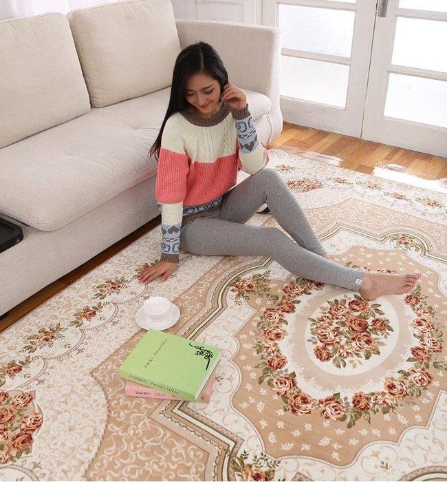 CP20033巴洛克宮廷風格羊毛感80*150 地毯 / 地墊