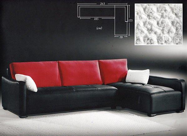 【尚品家具】211-02 羅伊半牛皮獨立筒L型布沙發組~台灣製造~可訂色可訂做