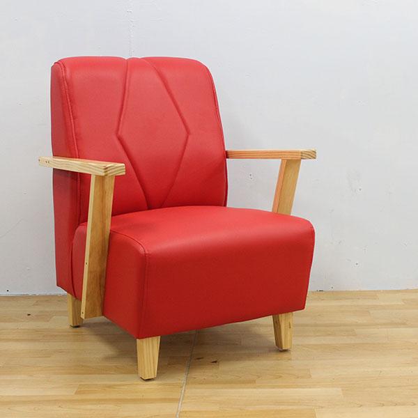 【石川家居 】TW-02  巧匠米紅色單人椅 可當房間椅 休閒椅 電腦小沙發 台灣製造 可訂色