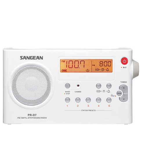 SANGEAN 山進二波段數位式充電收音機 PR-D7