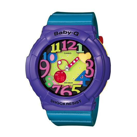 CASIO BABY-G BGA-131-6B霓虹多彩雙顯流行腕錶/綠面42.8mm