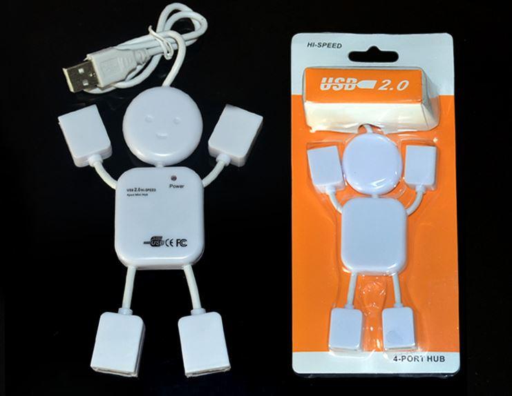 人形多功能USB HUB筆記本電腦一拖四分線器 擴展接口集線器   59元