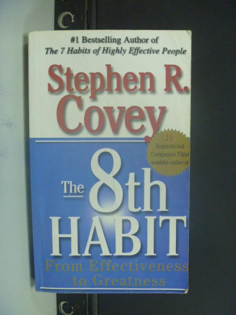 【書寶二手書T3/財經企管_NRC】The 8th HABIT_Stephen R. Covey