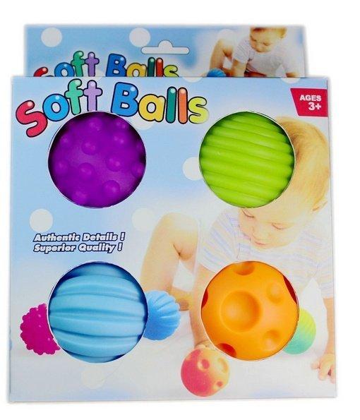 早教 觸覺抓球 塑膠球 軟膠球 安撫玩具 寶寶玩具_櫻花寶寶