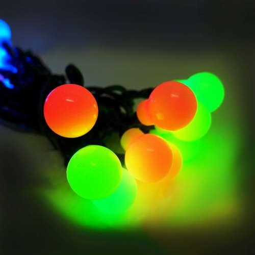 聖誕燈裝飾燈LED20燈珍珠燈造型燈(彩色光)(插電式/自動雙色雙閃) YS-XLP020001
