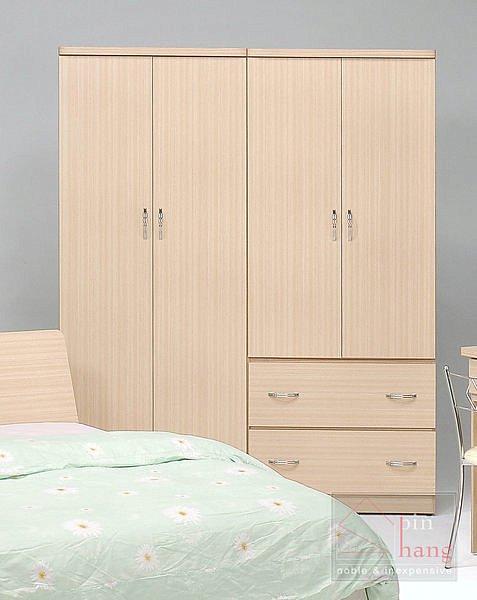 【尚品傢俱】GF-B0102 羅密歐白橡/胡桃 5尺房間收納櫃衣櫃衣櫥