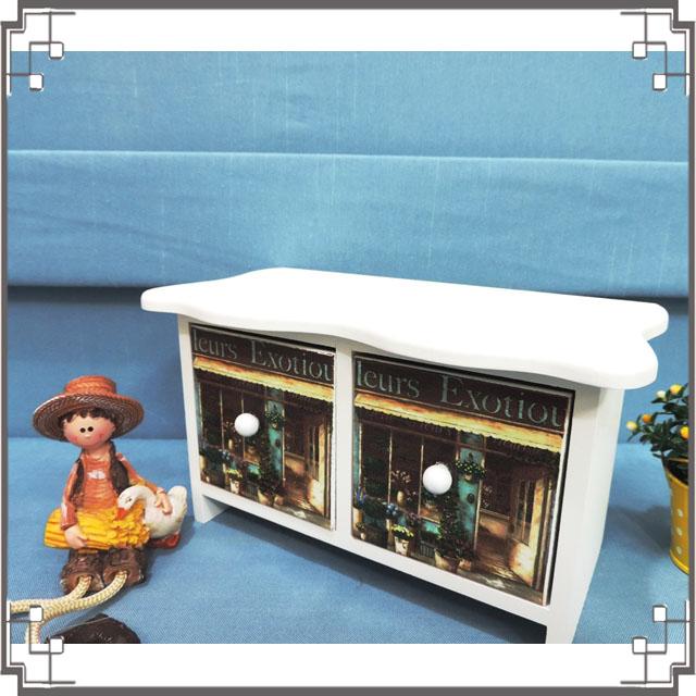 ↙8折↘洗白浪型二抽櫃《2W9》咖啡屋桌上型二抽櫃 收納櫃 飾品珠寶盒 居家布置◤彩虹森林◥