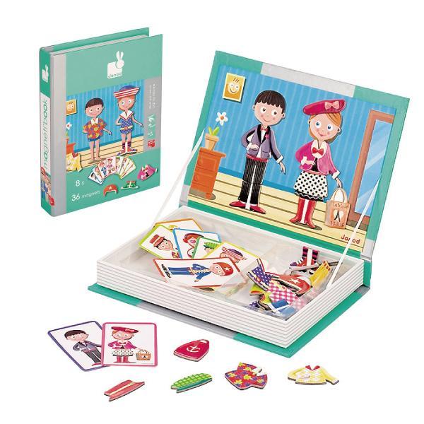 【法國 Janod】磁鐵遊戲書-時裝秀