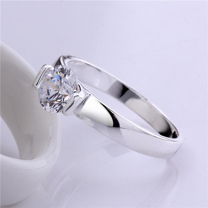 Missyoyo  925純銀精鑲單鑽戒指飾品【Q02YR603】-預購