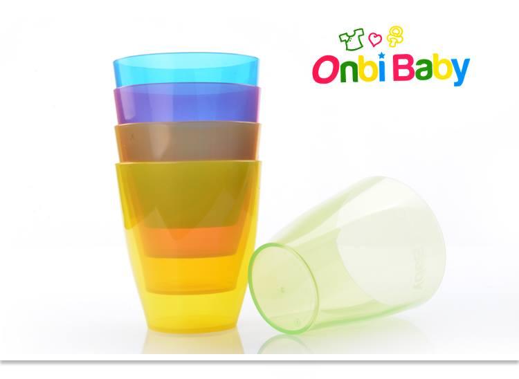 美國 Onbi baby 歐比寶貝 5色水杯 5入/組 250ml *夏日微風*