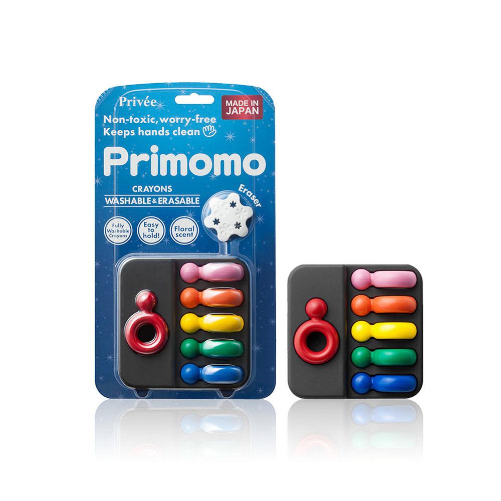 【Primomo】普麗貓趣味蠟筆(皇后戒指)6色-附橡皮擦