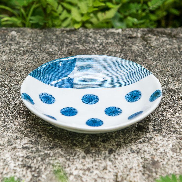 【進口食器】4台寸藍菊花淺盤 (#006) (蛋糕點心盤)