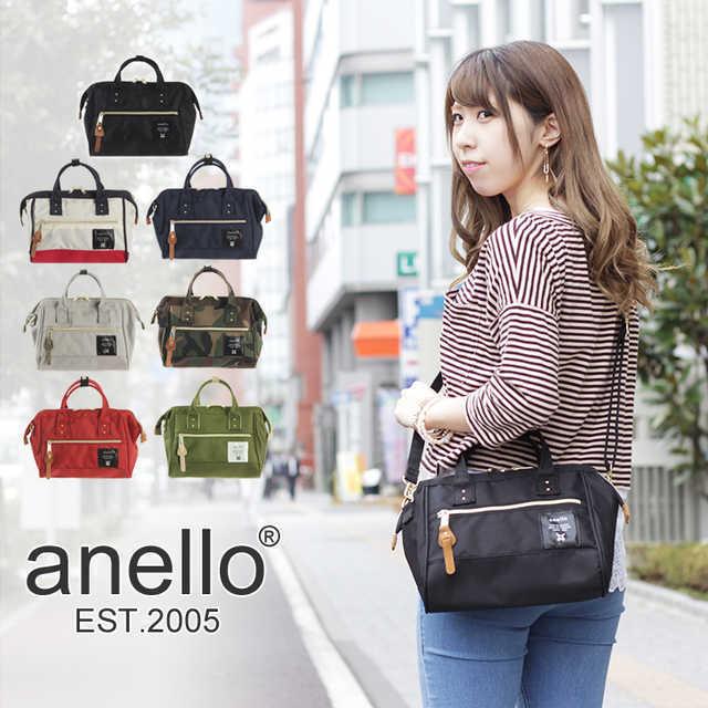 日本直送 日本ANello最新款大口金兩用波士頓包 『小』 正版商品