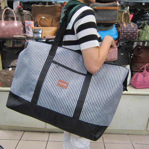 ~雪黛屋~AUYOD 購物袋旅行袋收納袋簡易型旅行袋防水尼龍布材質可壓扁收納不占空間可手提可肩背 #4811