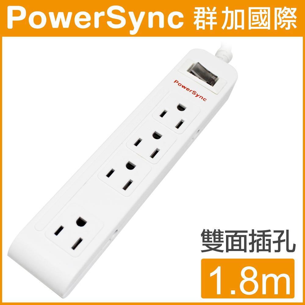 【群加 PowerSync】 防雷擊1開8插突波延長線 / 1.8M (PWS-EAS1818)