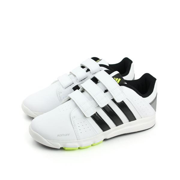 adidas BTS Class 4 CF K 休閒鞋 白黑 童 no202