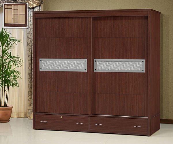 【尚品傢俱】 ※自運價※ Q-GF-P01 晶鑽胡桃7x7尺房間收納櫃衣櫃衣櫥