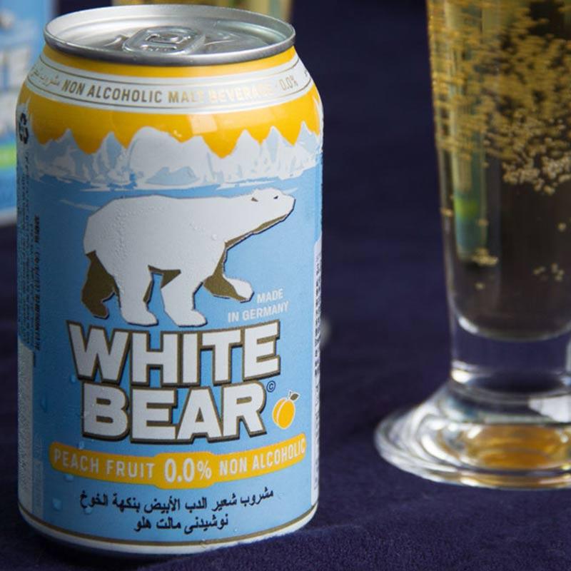 〖吃貨人〗【阿拉認證】WHITE BEAR德國熊水蜜桃白麥汁(單罐/24入)