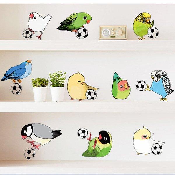BO雜貨【YV0503】卡通創意足球鸚鵡 兒童房教室裝潢佈置 壁貼