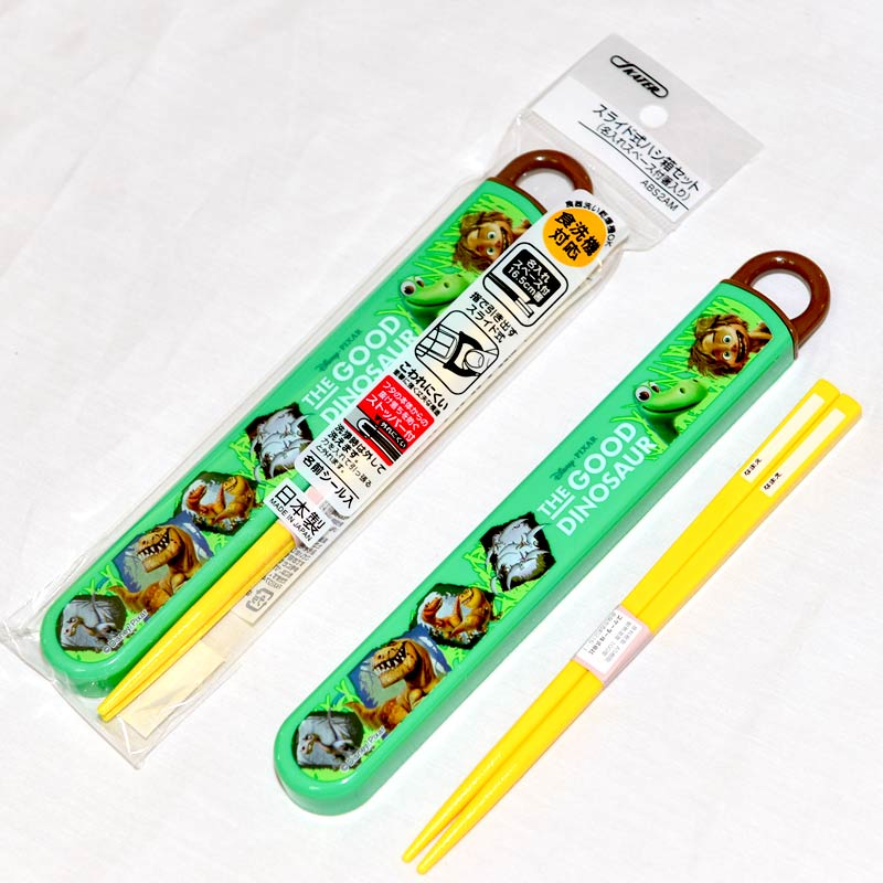 恐龍當家 廸士尼 筷子組附保存盒 日本製正版商品 兒童餐具