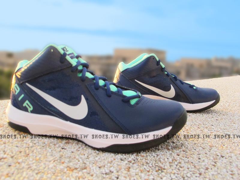 Shoestw【831572-401】NIKE THE AIR OVERPLAY IX 籃球鞋 深藍 蒂芬妮綠