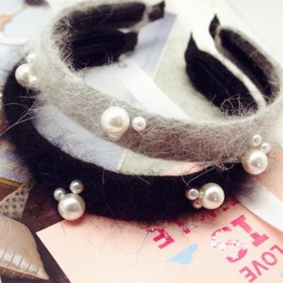 髮箍珍珠髮圈(任兩件)-甜美米奇兔造型女美髮飾品3款73gi12【韓國進口】【米蘭精品】