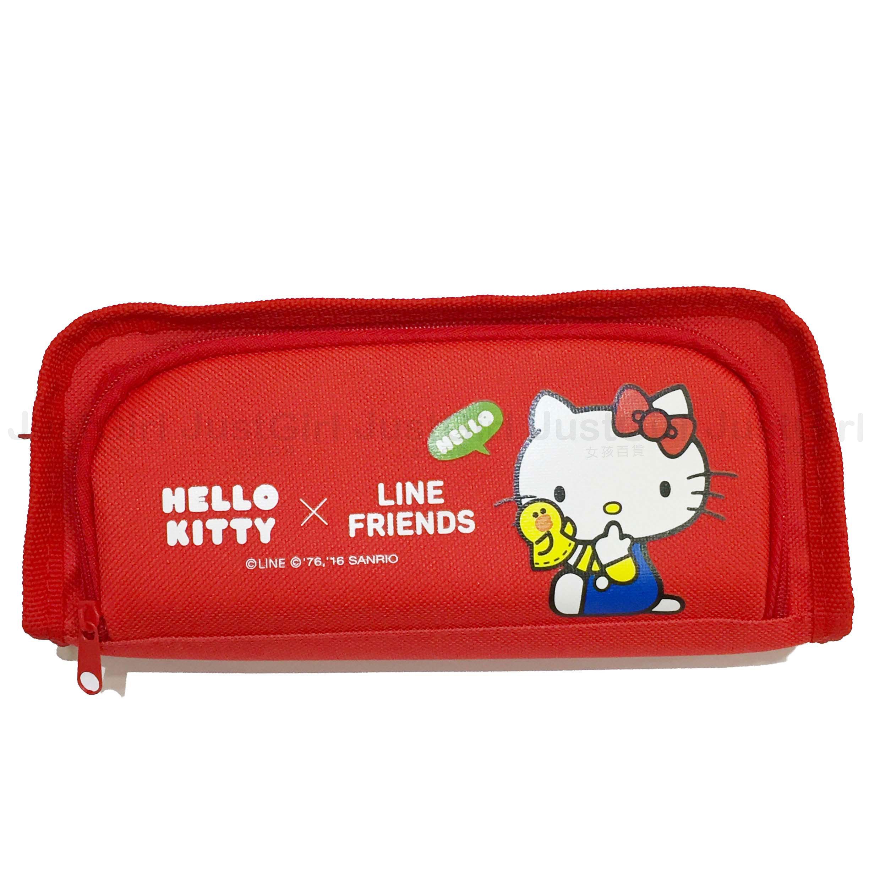 HELLO KITTY LINE 莎莉 鉛筆盒 筆袋 收納袋 雙層 文具 正版日本授權 * JustGirl *