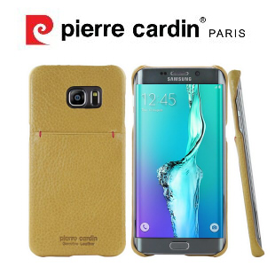 [ Samsung Note5 ] Pierre Cardin法國皮爾卡登日系簡約真皮卡袋手機殼/保護殼/皮套 黃色