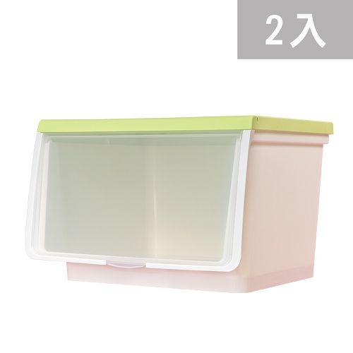 大象平方-輕透系列直取式收納箱-CM3-014二入(38L)