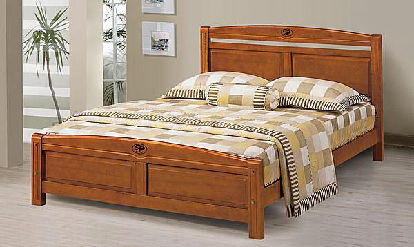 【石川家居】EF-102-3 安麗5尺柚木色雙人床架 (不含其他商品) 大需搭配車趟