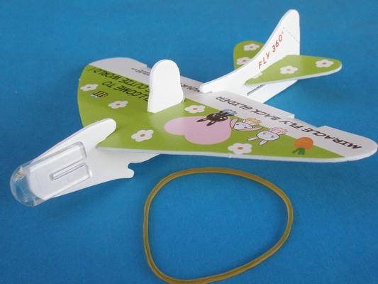空白保利龍彈射飛機 360˙彩繪滑翔機 空白飛機 彩繪飛機 DIY飛機 (彈射滑翔兩用)/一袋6支入{定40}
