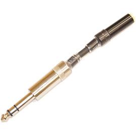 志達電子 CAB002-1K(6.3mm) 6.3mm公轉3.5mm母 高阻抗轉接頭 使用T-LAB線身 解決真空管或綜合擴大機所產生的底噪問題