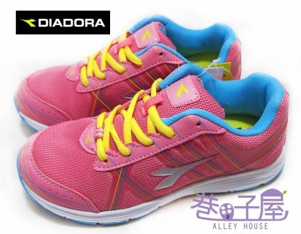 【巷子屋】義大利國寶鞋-DIADORA迪亞多納 女大童三大機能寬楦超輕量運動跑鞋 [9782] 粉 超值價$498