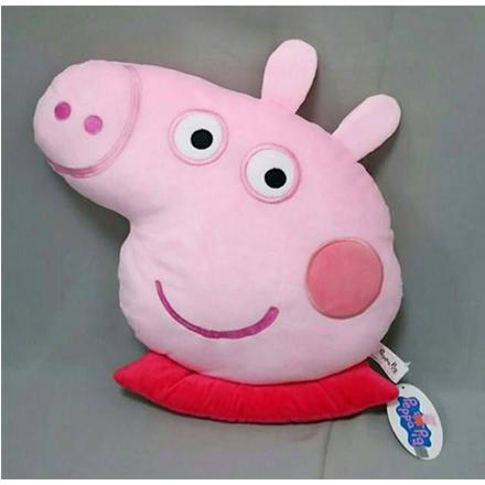 【敵富朗超巿】粉紅豬小妹頭型抱枕