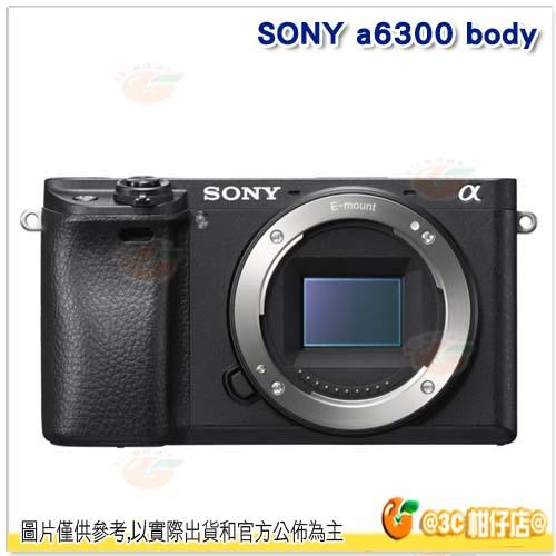 送Sandisk 32G 90MB +電池*2+LCS-BBF 相機包等好禮 SONY A6300 BODY ILCE-6300 單機身 台灣索尼公司貨18+6個月保固 A6000 下一代