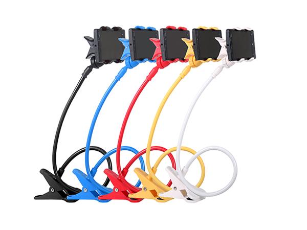 BO雜貨【SV6165】 多功能創意懶人手機支架 可彎曲床頭手機架