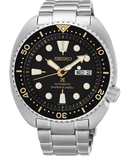 Seiko  Prospex 4R36-04Y0K(SRP775J1) 鮪魚罐頭機械潛水腕錶/黑面44mm