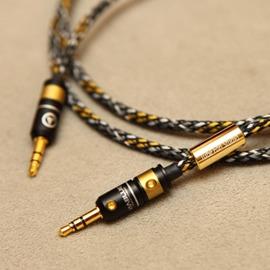 志達電子 MV-35S/1.2 管迷 Mundorf 金銀合金3.5mm to 3.5mm 耳機升級線/訊號線 標準版 MDR-1, Z1000