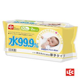 【悅兒樂婦幼用品舘】LEC I-PLUS 純水99.9%日本製濕巾60抽(2入)-厚型