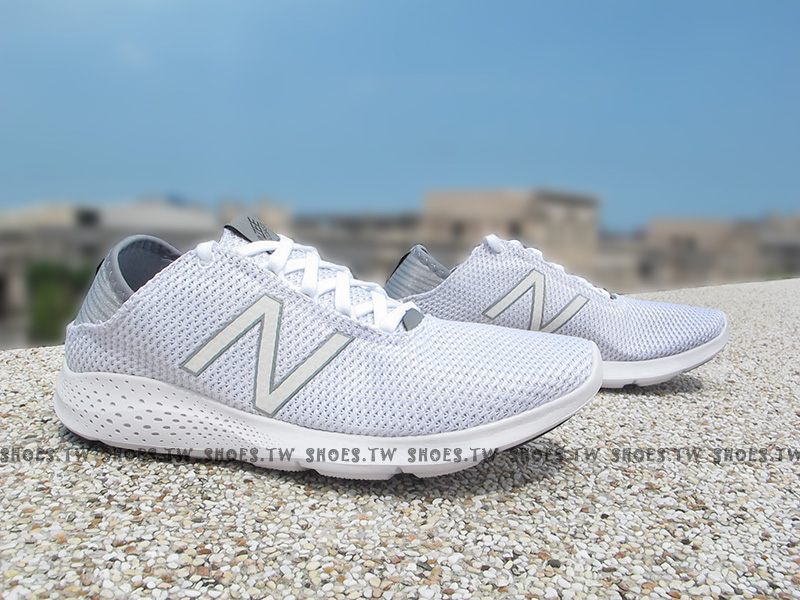 Shoestw【WCOASAC2】NEW BALANCE 慢跑鞋 全白 編織 女生尺寸 NB