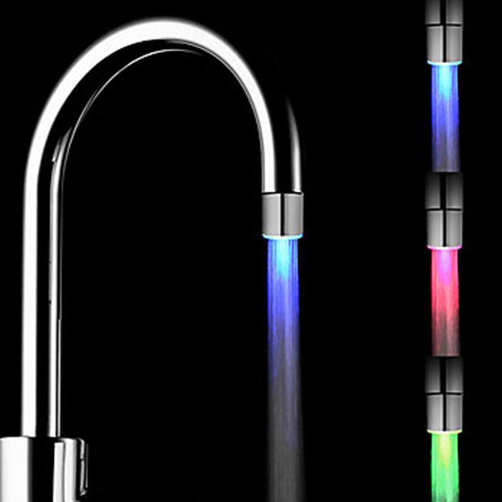 溫度感測器,LED燈水龍頭水龍頭發光淋浴廚房浴室的RGB /彩色/藍色