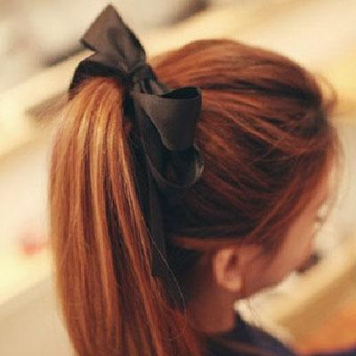 [全店免運,滿700現折$100]   韓系簡約氣質甜美緞帶蝴蝶結髮束【AA-6031】LYNNSHOP
